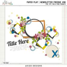 Newsletter Freebie - Paper Play #06
