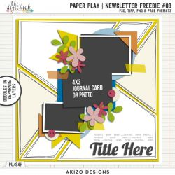 Newsletter Freebie - Paper Play 09