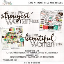 Freebie - Love My Mom Title Arts - Limited Time