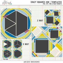 New - Crazy Squares 08 | Templates