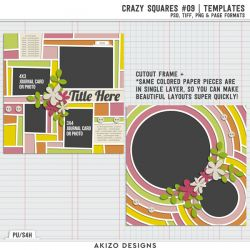 $1 Sale - Crazy Squares 09 - Crazy Squares 05 | Templates