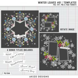 $1 Sale - You + Me = Us | Elements - Winter Leaves 01 - From The Heart 01 | Templates