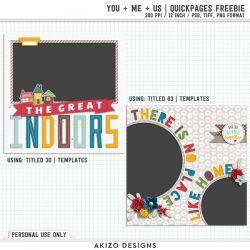 Freebie - You + Me = Us | Freebie Quickpages