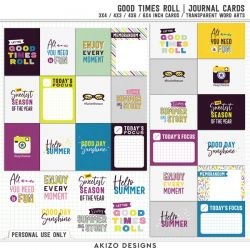 $1 Sale - Good Times Roll | Journal Cards - Title Arts