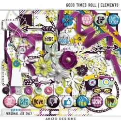 $1 Sale - Good Times Roll | Elements - Recycle 09 | Templates