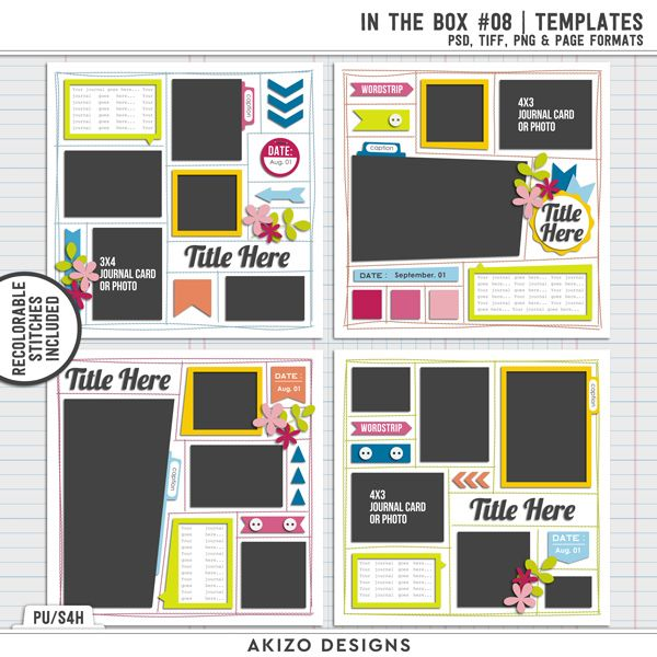 $1 Sale - In The Box 08 - Titled 02   Templates