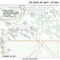 $1 Sale - This Makes Me Happy | Alphas - Stitches - Playing With Confetti 04 | Templates