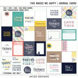 $1 Sale - This Makes Me Happy | Journal Cards - Title Arts - Stitched Up 04 | Templates