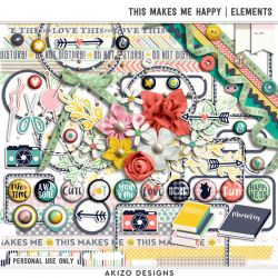 $1 Sale - This Makes Me Happy | Elements - Papers - Paper Play 13 | Templates