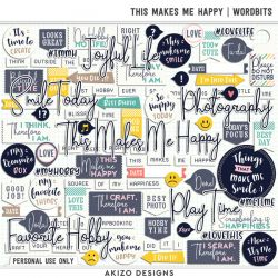 $1 Sale - This Makes Me Happy | Wordbits - Photo Addict 01 | Templates