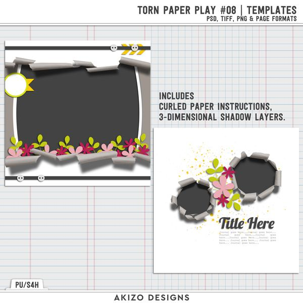 New - Torn Paper Play 08 | Templates