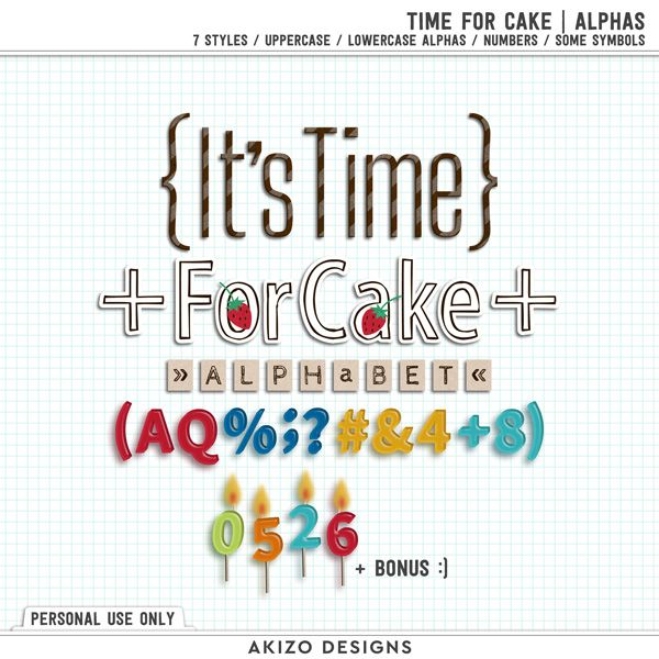 $1 Sale - Time For Cake | Alphas - Stitched Confetti