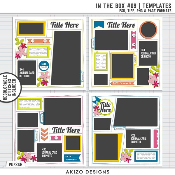 $1 Sale - In The Box 09 | Templates + Crop Challenge