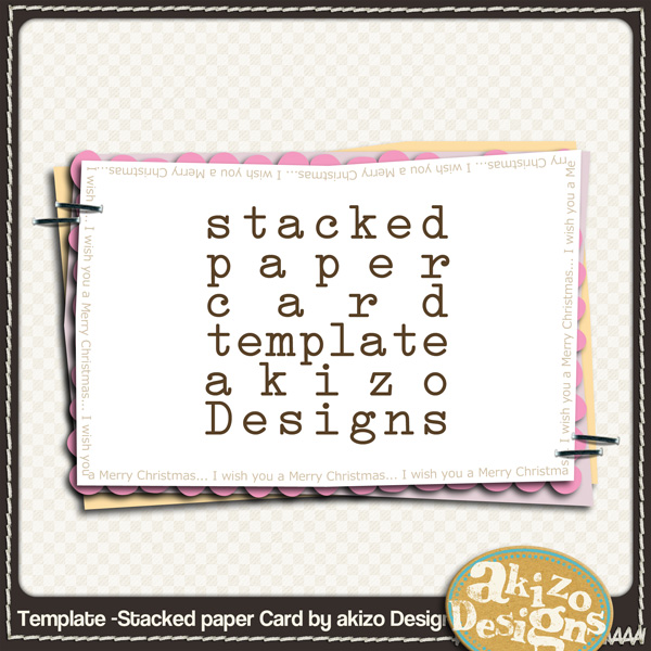 Template -Stacked paper Card