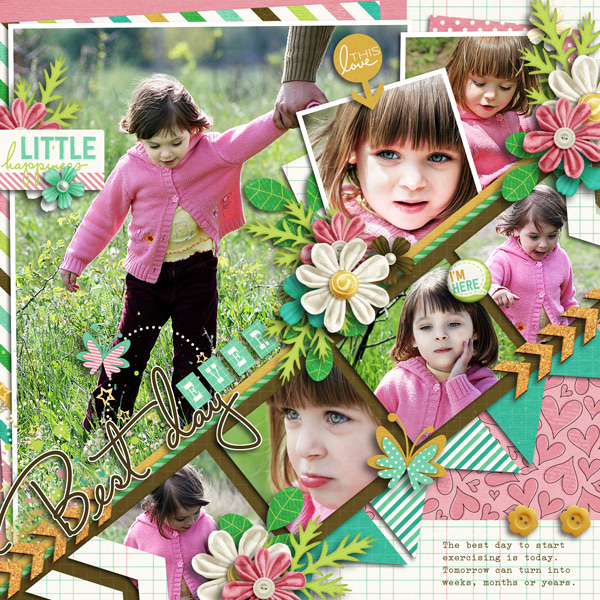 Sample Layout, Template by Little Green Frog Designs