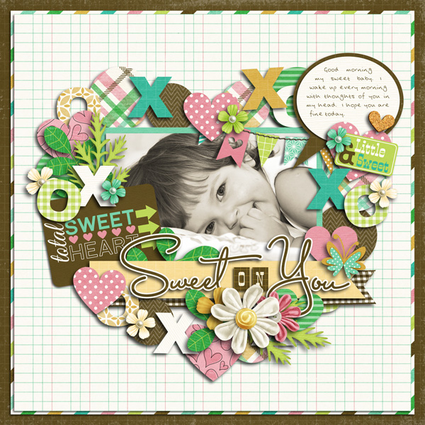 Sample Layout, Template by Cindy Schneider