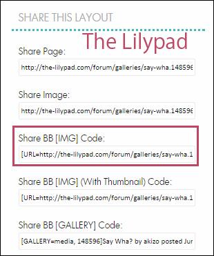 BB code入力支援 Lilypad