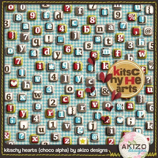 Kitschy Hearts Choco Alpha