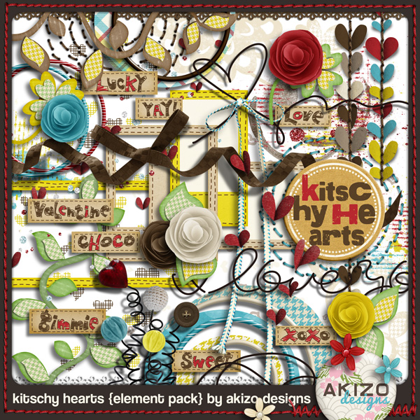 Kitschy Hearts Element Pack