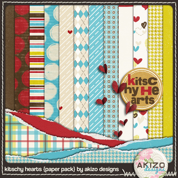 Kitschy Hearts Paper Pack
