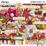 Autumn Leaves Collection + Free with Purchase Quickpages AND the Giveaway Winner