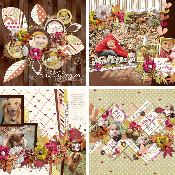 Layout Sample of Autumn Leaves | Quickpages
