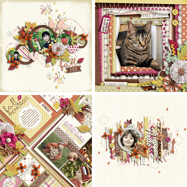Layout Sample of Autumn Leaves 02 | Quickpages