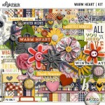 Warm Heart + Free with Purchase Quickpages AND Freebie