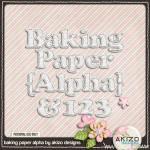 "Freebie フリー素材 ""Baking Paper Alpha"""