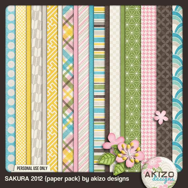 Sakura 2012 Paper Pack