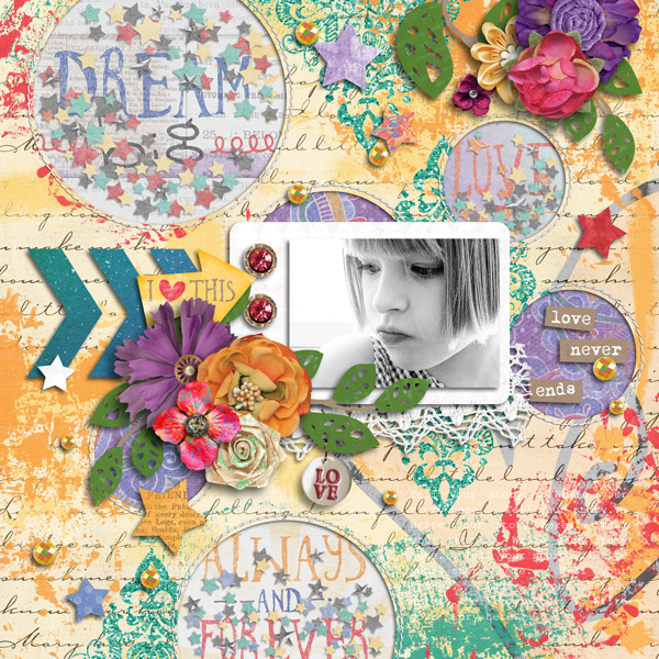 Layout Sample of Playing With Confetti 02 | Templates