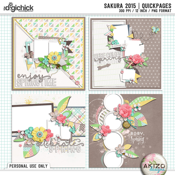 Sakura 2015 | Quickpages by Akizo Designs