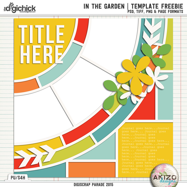 In The Garden | Template Freeble by Akizo Designs