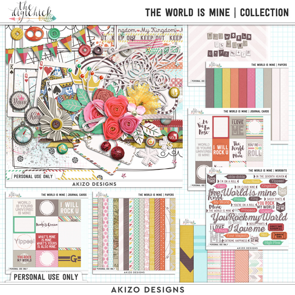 The World Is Mine by Akizo Designs | Digital Scrapbooking Collection