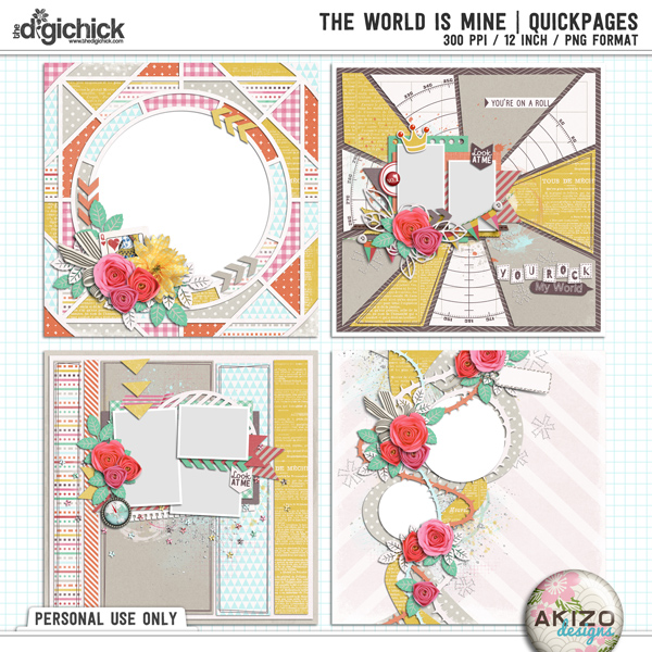The World Is Mine   Quickpages by Akizo Designs