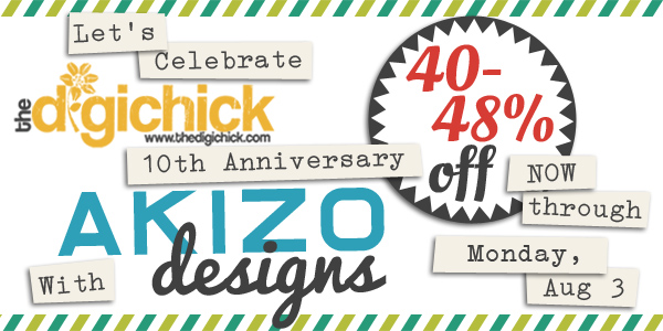 10th Anniversary Sale | Akizo Designs | Digital Scrapbooking