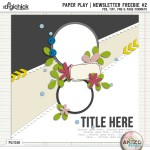 Newsletter Freebie – Paper Play #2