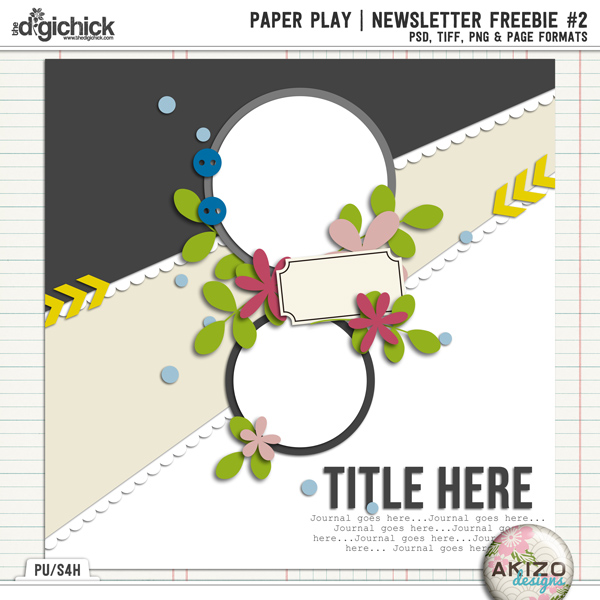 PaperPlay NewsLetter Freebie #2 by Akizo Designs