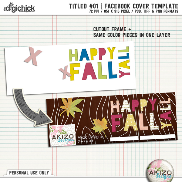 Titled 01 Templates Facebook Cover by Akizo Designs