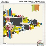 Newsletter Freebie – Paper Play #3