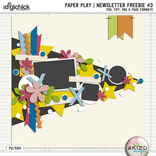 Paper Play NewsLetter Freebie #3 by Akizo Designs