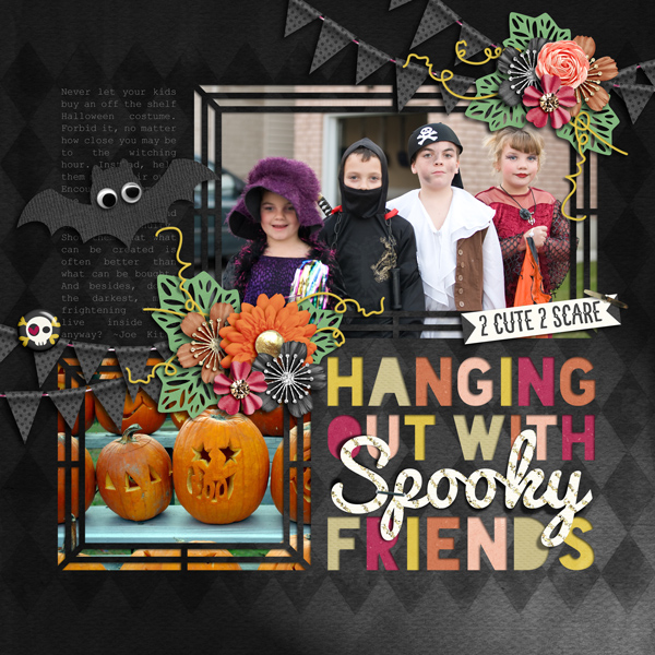 Layout Sample of Not So Spooky | Kit and Titled 02 | Templates