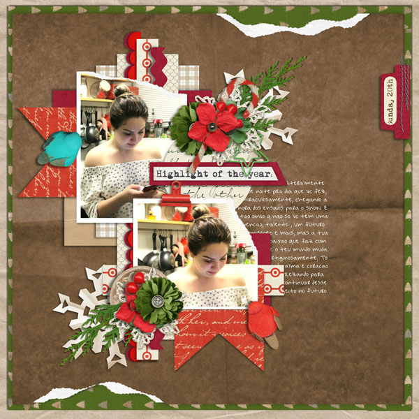 Layout Sample of Torn Paper Play #01 | Templates