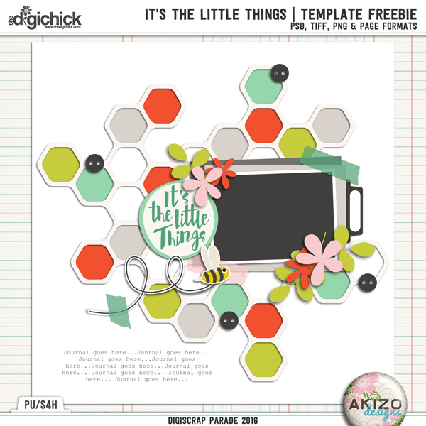It's The Little Things | Template Freeble by Akizo Designs