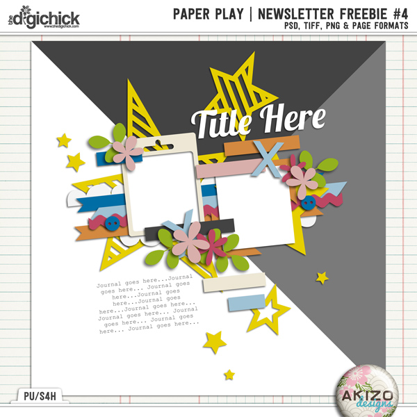 PaperPlay NewsLetter Freebie #04 by Akizo Designs