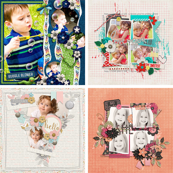 Layout Sample of Torn Paper Play #02 | Templates