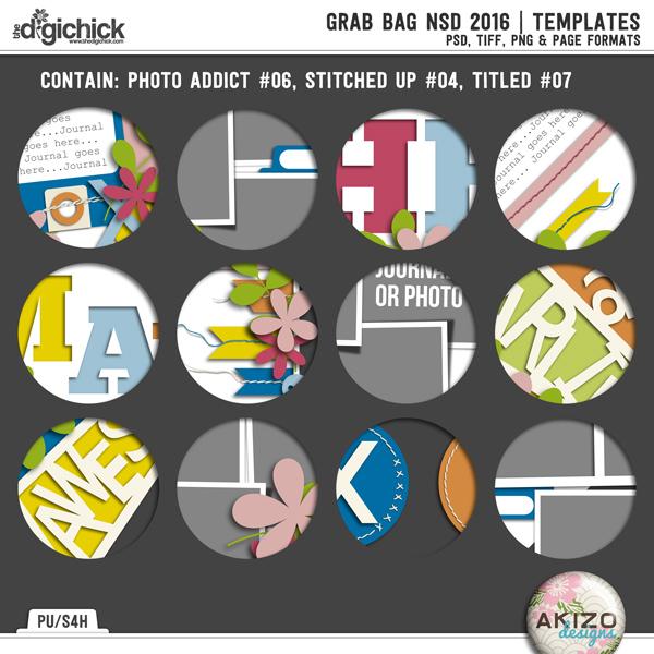 Grab Bag NSD 2016 | Templates by Akizo Designs