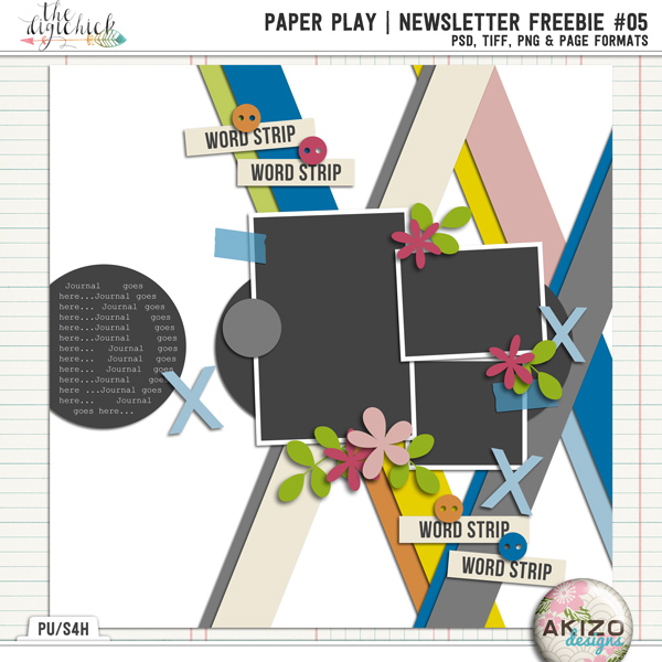 PaperPlay NewsLetter Freebie #05 by Akizo Designs