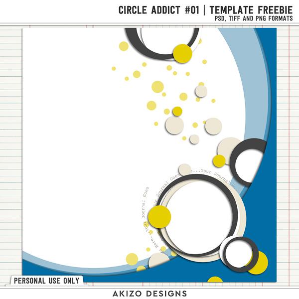 "Freebie フリー素材 ""Template - Circle Addict 1"""