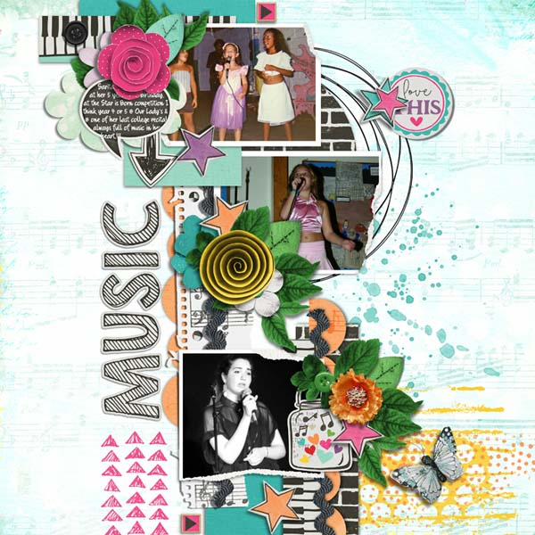 Layout Sample of Torn Paper Play #03 | Templates